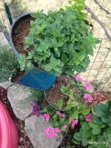 diy stacked herb garden hip2save stacked flower pot herb garden refresh living