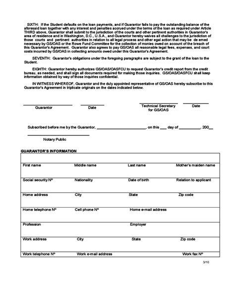 guarantor agreement united states free download