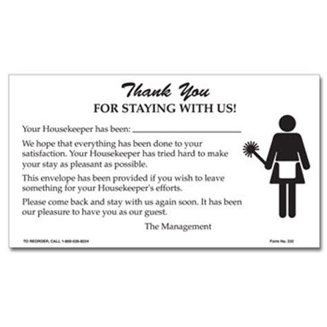 printable housekeeping tip envelopes hotel maid tip gratuity envelopes