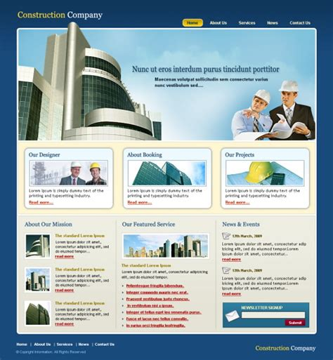 templates for construction website property lands website template 5695 construction