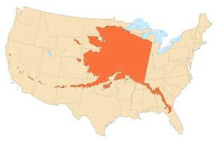 alaska area compared to conterminous us mapsof net