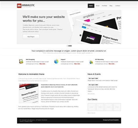 Minimalist Website Template Corporate Css Templates Css Templates Dreamtemplate Minimalist Website Template