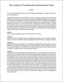 articles of confederation 1777 free printable version