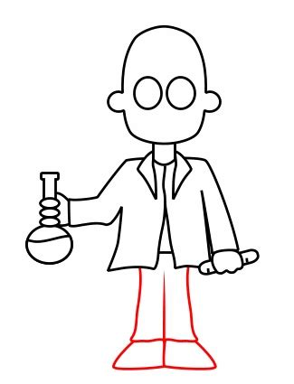 Drawing Characters by Drawing A Scientist