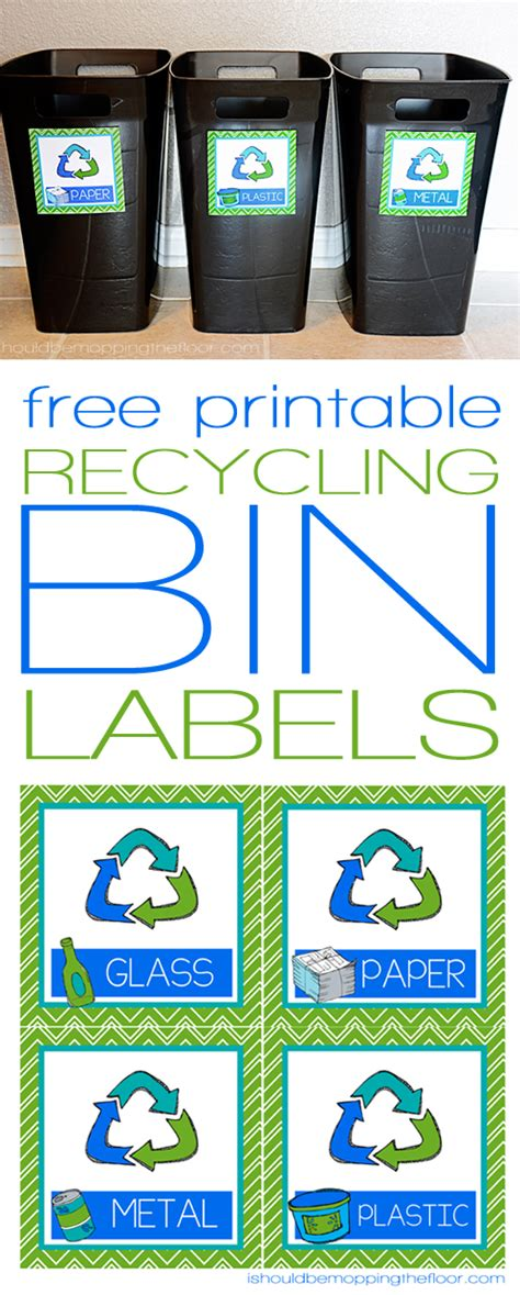 printable recycle stickers free printable recycling bin labels bin labels