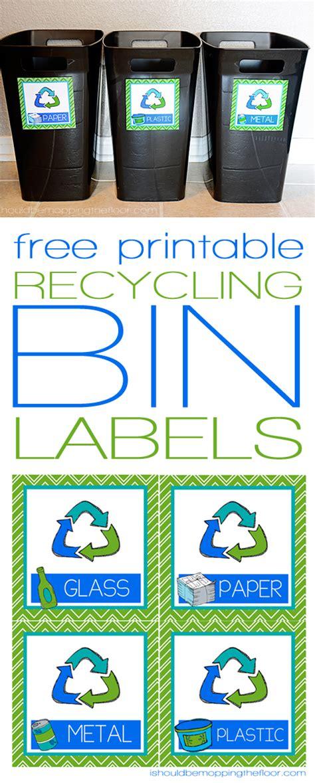 printable recycle label free printable recycling bin labels bin labels