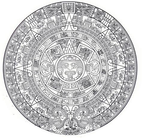 calendario azteca para colorear ancient solar system tattoo pics about space