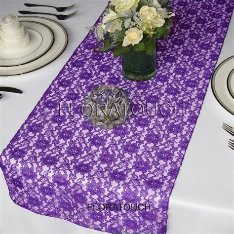 purple lace table runner wedding table runner