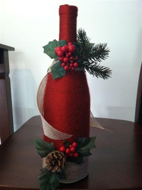 weinflaschen zu weihnachten als geschenk verpacken