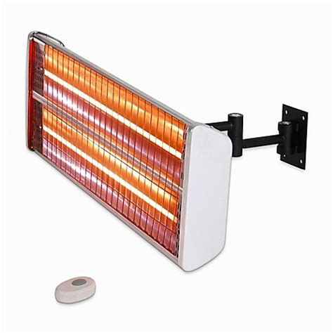 Wall Mounted Infrared Patio Heater Buy Energ Hea 21531 Wall Mounted Electric Infrared Outdoor Heater In Silver From Bed Bath Beyond