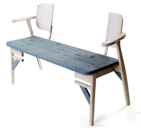 recycled bench seats split chair benches 187 curbly diy design decor