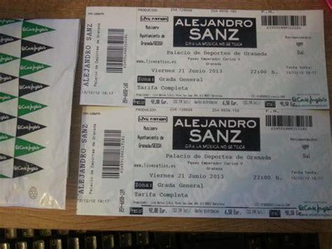 comprar entradas alejandro sanz entradas concierto alejandro sanz en granada mejor