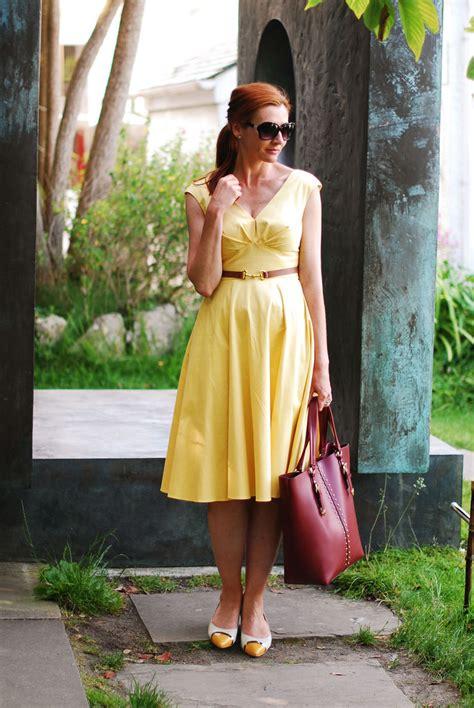 Summer Dress Vintage Look summer heat grace vintage style yellow dress not dressed as