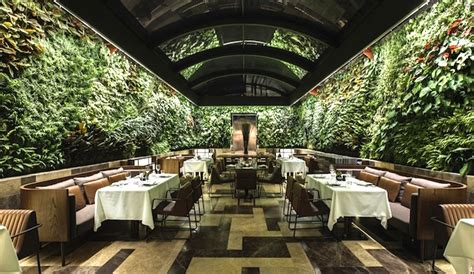 Vertical Garden Restaurant Wraparound Wall Of Plants Livens Up Istanbul S Bespoke