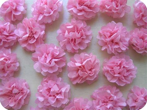 Flowers With Tissue Papers - delicate tissue flowers craft