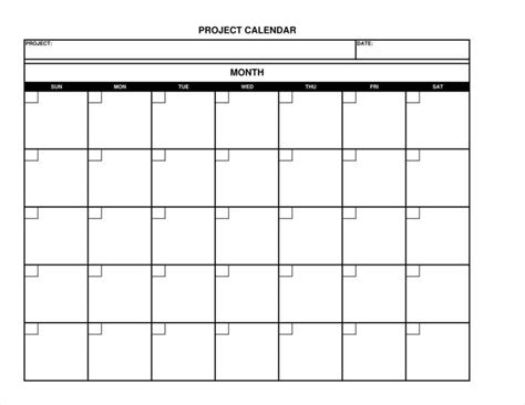 9 Advertising Calendars Free Pdf Excel Format Download Free Premium Templates Project Calendar Template