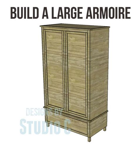 free diy woodworking plans to build a large armoire an