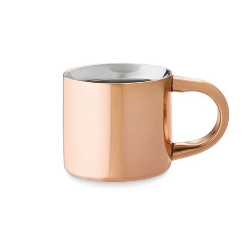 Double Wall Copper Espresso Mug   Williams Sonoma