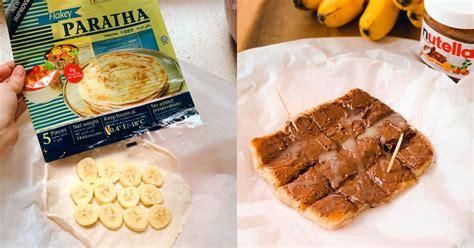 thai street style banana nutella roti  home