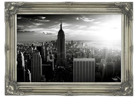 architectural wall murals empire state building sun glow b w architecture mural printed wall mural