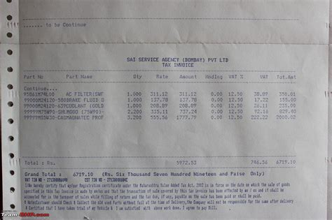 Sai Service Ripoff Rs 18 000 For Service Of Swift 22k