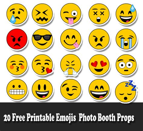free printable emoji photo booth props 20 free printable emojis photo booth props emoji