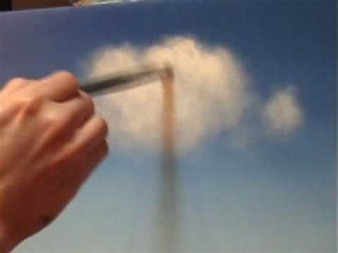 acrylic paint technique how to paint simple effective clouds free painting lessons