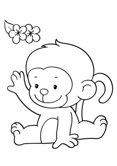 cute monkey coloring pages coloring part 3 نقاشی میمون برای کودکان و رنگ آمیزی های جذاب میمون های بامزه