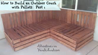 How To Make A Sofa How To Build An Outdoor Couch With Pallets Part 1