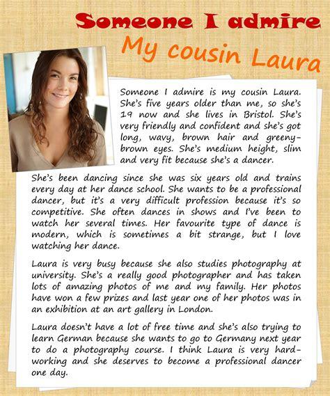 Person I Admire Essay by Someone I Admire Describing Learnenglishteens For Teenagers