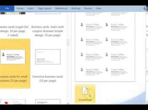 download template kartu nama microsoft word cara download template kartu nama gratis di ms word