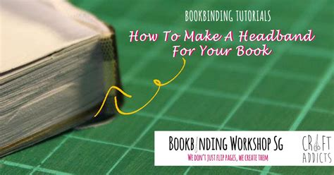 How To Make A Paper Headband - how to make a headband for book binding bookbinding