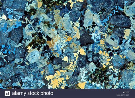 marble thin section granite rock thin section showing minerals through cross