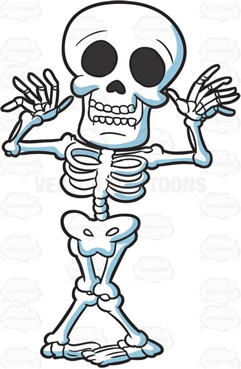 skeleton clipart a silly skeleton clipart vector