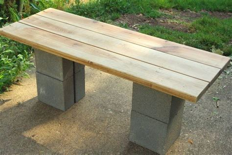 cinderblock bench diy cinder block bench i would stain the wood a darker