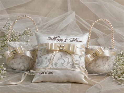 Ring Pillows And Flower Baskets by Flower Basket Ring Bearer Pillow Set 2 By Forlovepolkadots