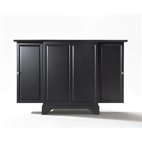 Black Bar Cabinet Crosley Furniture Lafayette Expandable Cabinet Black Finish Home Bar Ebay