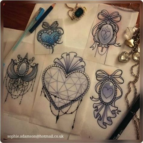 gem tattoo designs adamson drawings lace gem