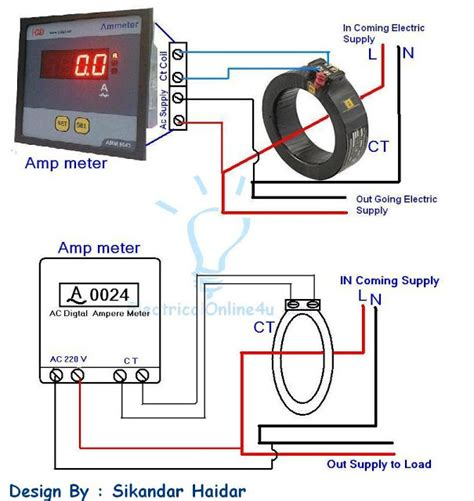 current transformer connection to meter diagram digital ammeter wiring with current transformer ct coil