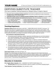 incredible substitute teacher resume objective resume
