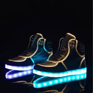 led light up shoes trainers unisex led light up hi tops
