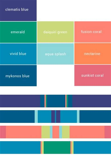 pantone color schemes palette pantone for summer 2015 www teabag1928 it
