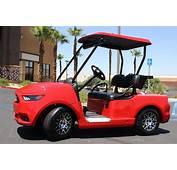 Ford Mustang Custom Golf Car  Caddyshack Carts