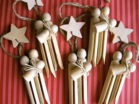 Handmade Ornaments For - set of 3 clothespin nativity ornaments