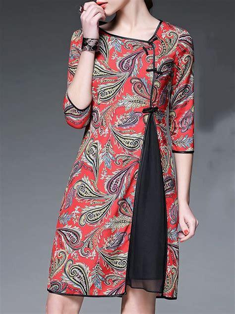 baju vintage online red polyester vintage midi dress midi dresses vintage