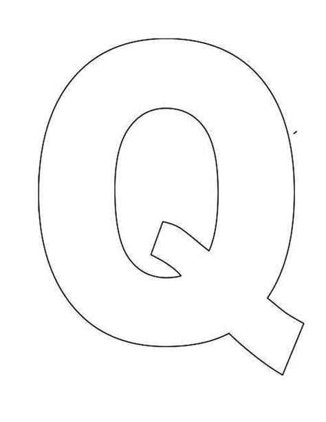 Printable Letter Q Template Alphabet Letter Q Templates Are Perfect Teaching Pre K Color In Letter Template