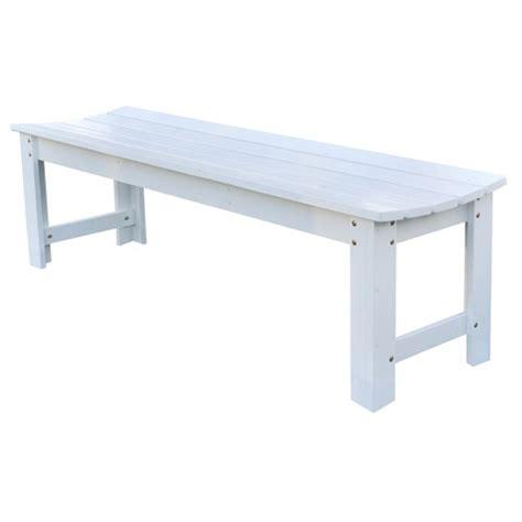 white outdoor bench outdoor