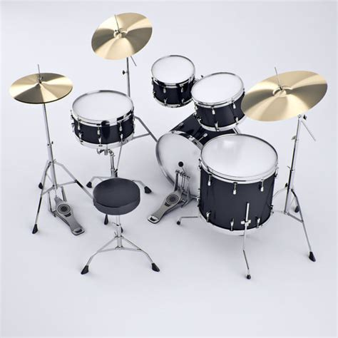 Kaos 3d Umakuka Drum Set 3d model yamaha drums set