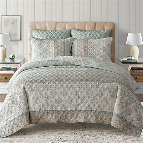 bed bath and beyond quilts kala quilt in seafoam bed bath beyond
