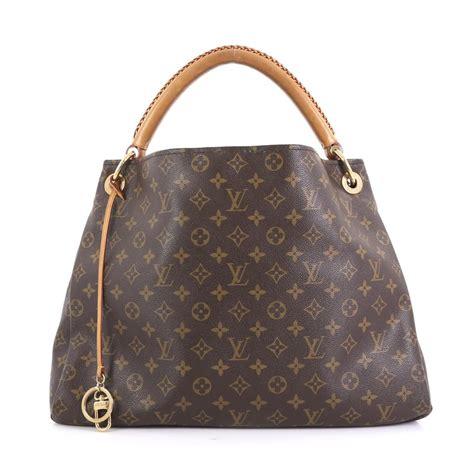 louis vuitton artsy handbag mm brown monogram canvas hobo